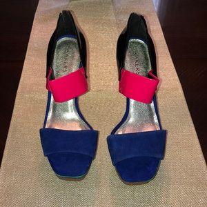 Multicolor Platform Heels